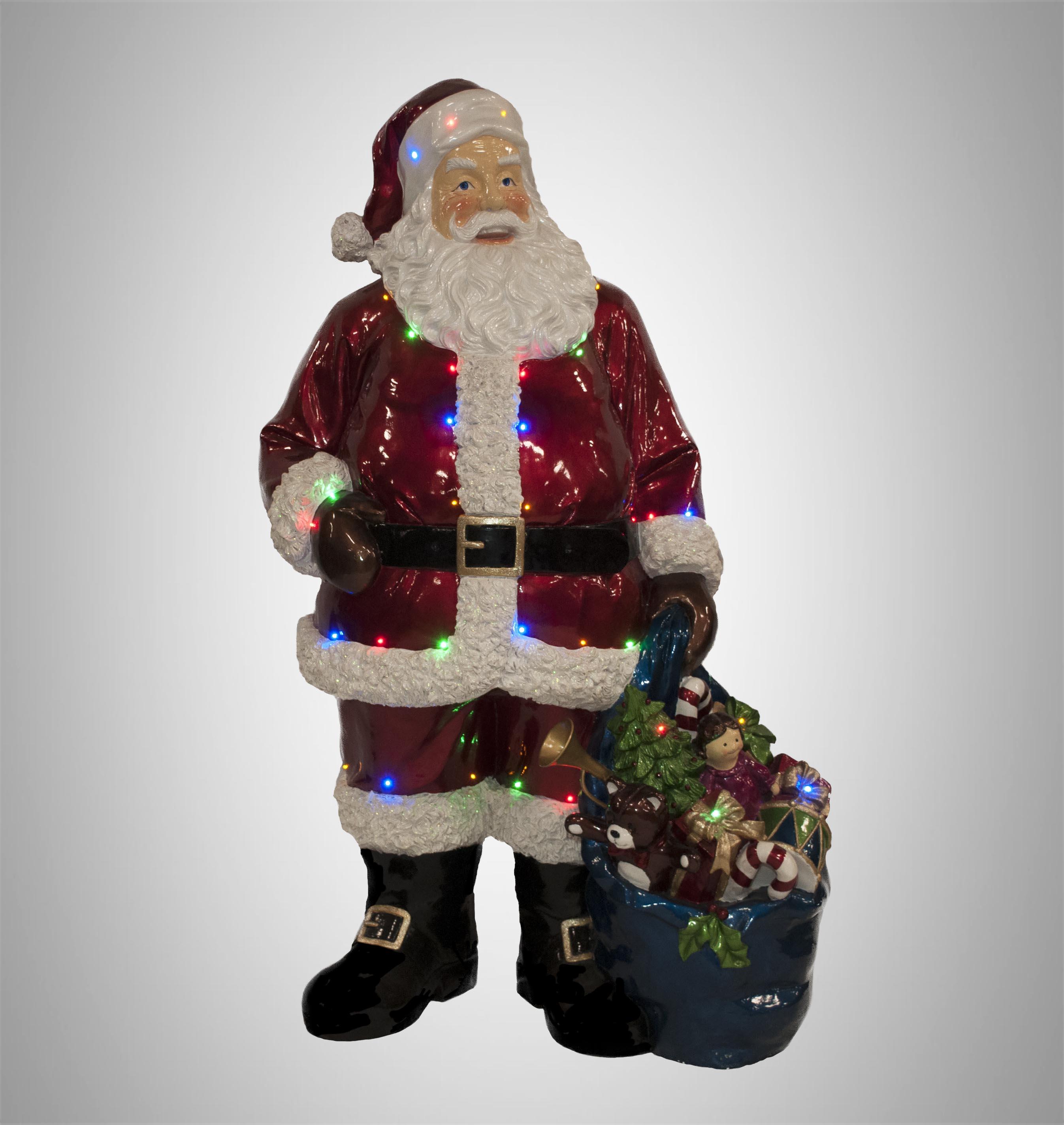 Babbo Natale 90 Cm.Decorazioni Natalizie Per Set Fotografici O Televisivi Turate L
